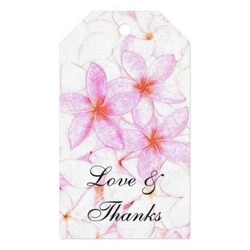 Pink Plumeria Flowers Gift Tags Pack Of Gift Tags