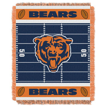 Chicago Bears NFL Triple Woven Jacquard Throw (Field Baby Series) (36x48)