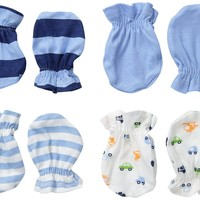 Baby Boys' 4 Pack Mittens