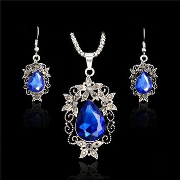 SHUANGR 2017 Austrian Crystal Jewelry Sets For Women Fashion Jewellery & Jewerly Silver-Color Bridal Wedding Jewelry Sets