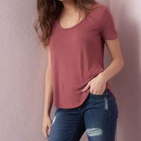 Scoop Neck Relaxed Tee