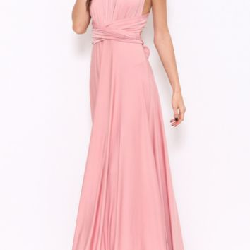 However You Want It Wrap Maxi Dress - Dusty Rose