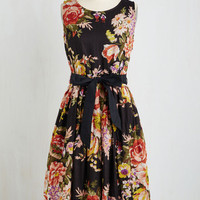 Long Sleeveless Fit & Flare Paris in the Springtime Dress
