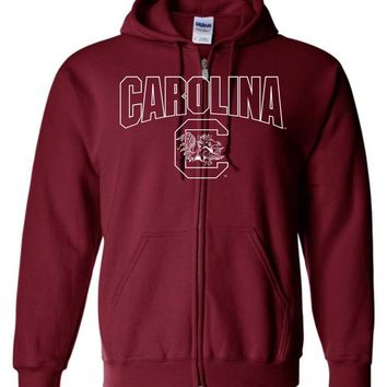 Official NCAA University of South Carolina Fighting Gamecocks USC COCKY SC Basic Zip Hoodie - SC001