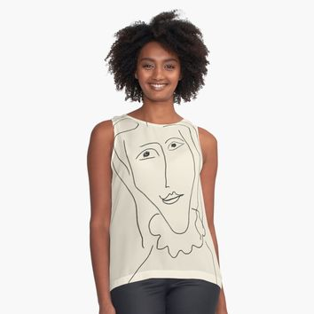 'Matisse Woman 03' Contrast Tank by BillOwenArt