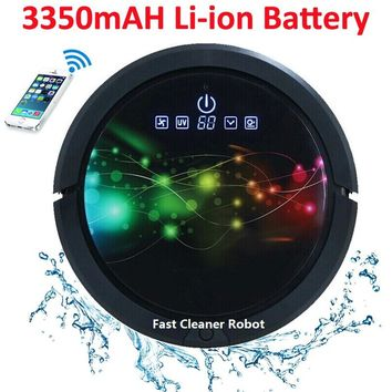 2017 WIFI Smartphone APP Control Sweeping Vacuum Sterilize Wet And Dry Mop Vacuum Cleaner Robot QQ6 Update With Water Tank