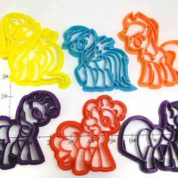 My Little Pony Mane Six Cookie Cutter Set