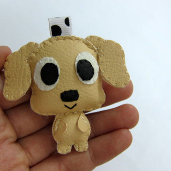 Cute Dog Leather Keychain - Patrick, Sadie, Rocky