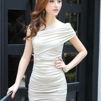 Slimming Wrapped Chest Dress