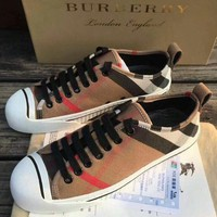 Burberry 2018 spring and summer counters cotton canvas high top sneakers F-OMDP-GD