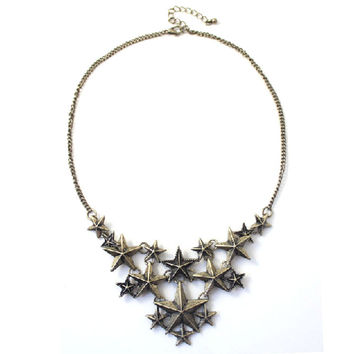 Women Vintage Antique Star Necklace