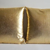 Sukan / 1 Pillow Covers Gold   Large Pillow   Home Exteriors Pillow   Gold Decorative Pillows   Media Rooms Pillow