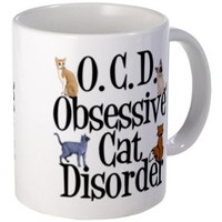 CafePress Cat Mug - Mega White
