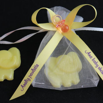 Elephant Baby Shower Favor - Elephant Soaps for Ciruc, Jungle or Zoo Themed Baby Shower or Birthday Party Favor - Pack of 10