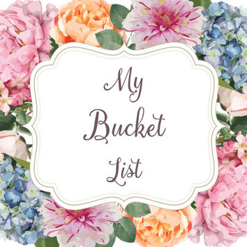 Bucket list Journal | Notebook | Floral Journal | Gift for Friend | My bucket list | Diary | Personalized gift