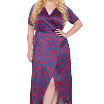 Sample Sale: Heat of the Season Wrap Maxi Dress, 1X