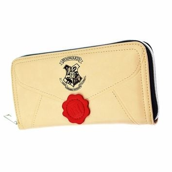 High Quality Harry Potter Letter Long Wallet Fashion Women Wallets Designer Brand Purse Round Zipper Purse
