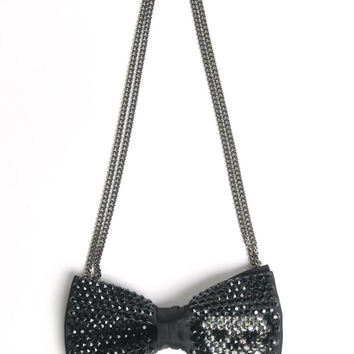 Skull Candy Bow Tie Necklace