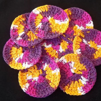 Facial Scrubbies, Scrubby's, cotton scrubbies, cotton pads, cleansing pads, crochet scrubby, makeup remover pads