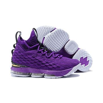 Nike LeBron James 15 XV Purple / Black Basketball Shoe