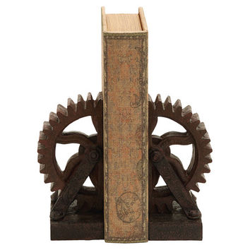 You should see this Rusted Gear Bookend in Bronze (Set of 2) on Daily Sales!