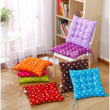 Square Candy Color Polka Dot Soft Dining Chair Seat Pad Filled Ties Cushion Decor 40*40cm decorative pillows Summar Style