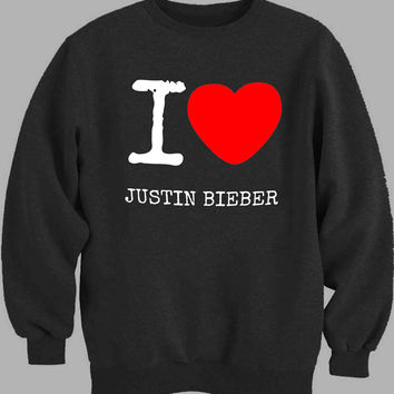 I Love Justin Bieber Sweater for Mens Sweater and Womens Sweater *