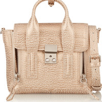 3.1 Phillip Lim - The Pashli mini textured-leather trapeze bag