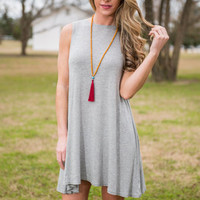 Best Fringe Forever Dress, Heather Gray