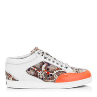Natural and Multi Snake Print Leather Sneakers | Miami | Spring Summer 2014 | JIMMY CHOO Sneakers