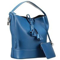 Louis Vuitton New Noe Cuir Nuance Blue Drawstring Bag 607551