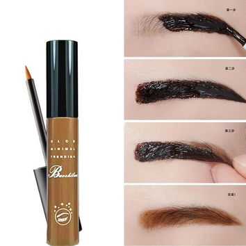 2016 Hot Peel Off Makeup Eyebrow Tattoo Crayon Sourcil Dark Brown Black sombra marrom Waterproof Eye Brow henna Tint Gel Makeup