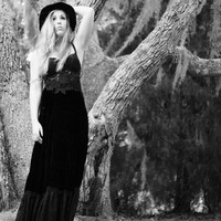 Bohemian gypsy Rock Star goddess dress, Stevie Nicks style maxi dress, Coachella hippie Boho dresses, Boho clothing True rebel clothing