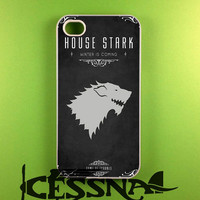 House Stark Game Of Thrones Case for iPhone 4/4s, iPhone 5/5S/5C, Samsung S3 i9300, Samsung S4 i9500, Samsung S5 Case
