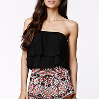 LA Hearts Smocked Ruffle Shorts at PacSun.com