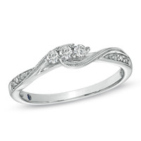 Cherished Promise Collection™ 1/6 CT. T.W. Diamond Three Stone Promise Ring in 10K White Gold