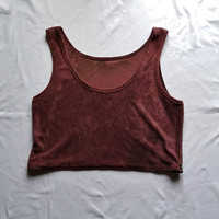 Crop top womens rosewood deep red earthy punk alternative clothing bra boho bralette vest gothic dark fashion witchy style cropped shirts