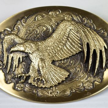 Solid Bronze Belt Buckle by High Mesa - Awesome 3D Flying Eagle