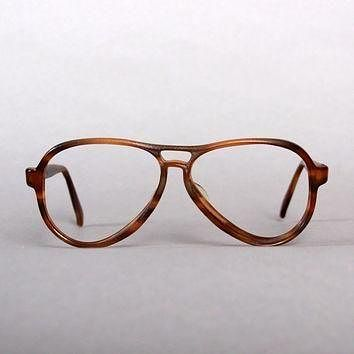 Tagre™ 80s RAY-BAN Brown Vagabond FRAMES / 1980s Men's 56mm Sunglasses Glasses