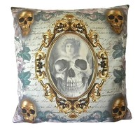 Mirror Mirror Skull Decorative 20 x 20 Inch Throw Pillow Cover Cushion Case