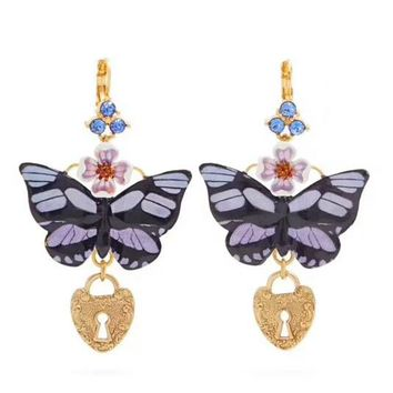 Dolce & Gabbana New fashion floral butterfly diamond love heart high quality long earring