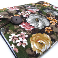 IPAD Air /  3 Cover / ipad 2 Sleeve / Vintage Linen Fabric