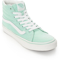 Vans Sk8-Hi Slim Gossamer Green Shoes (Womens)