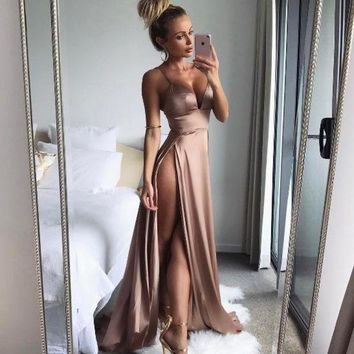 DCKL9 Sexy Hot Sale Slim Prom Dress One Piece Dress [256931725338]