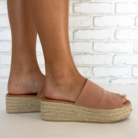 Beachie Espadrille Slide Sandals
