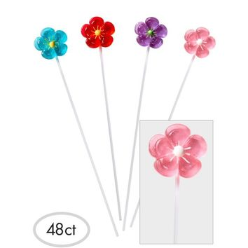 Flower Sparklepops Lollipops 48ct | Party City