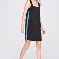 Straight Cut Dress with Pin Stripe Zippers