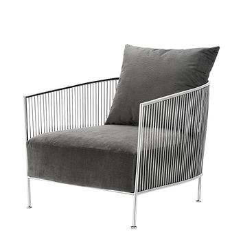 Gray Velvet Wire Chair | Eichholtz Knox