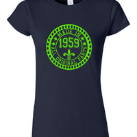 Made in 1959 All Original Parts Tshirt. 56th Birthday Shirt.  Funny Birthday Tshirts. Ladies and Mens Unisex Styles. Makes A Great Gift.