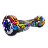 "7"" 2-Wheels Self-Balancing Scooters Hoverboard Hip-hop Graffiti w/ LED"